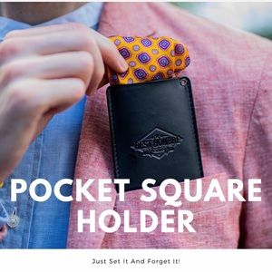 HP NWT Pocket Square Holder - Slim Suit Accessory
